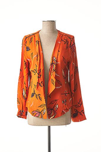 Veste casual orange LOLA ESPELETA pour femme
