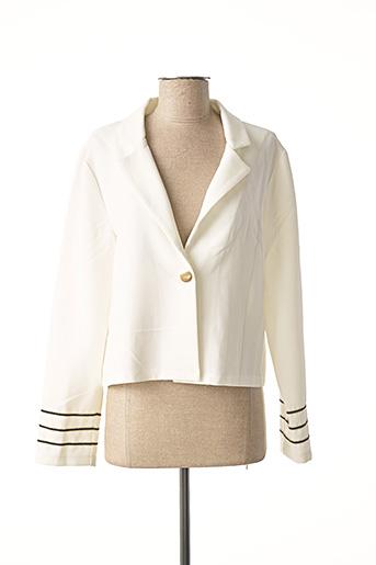 Veste chic / Blazer blanc DOUBLE JEU pour femme