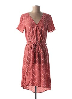 Robe mi-longue rose VILA pour femme