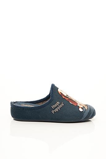 Chaussons/Pantoufles bleu HUSH PUPPIES pour femme
