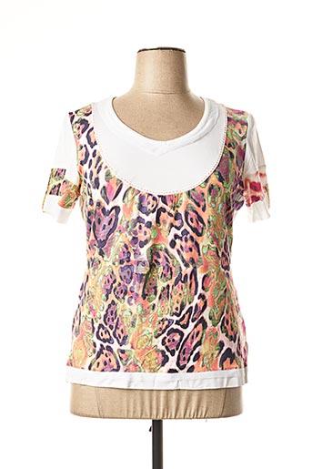 T-shirt manches courtes violet BE THE QUEEN pour femme