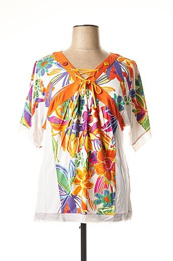 T-shirt manches longues orange BE THE QUEEN pour femme