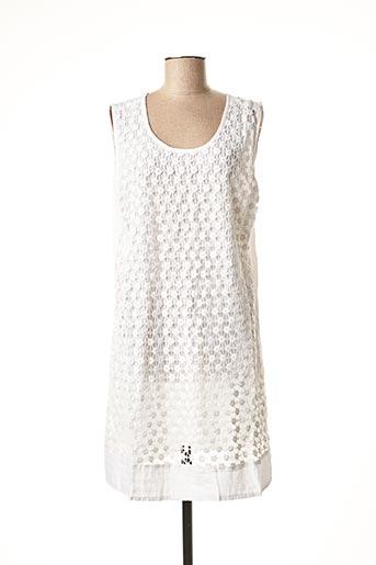 Robe mi-longue blanc INDIAN EMPORIUM pour femme