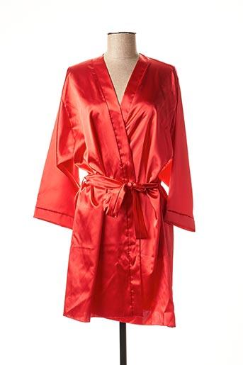 Robe de chambre rouge LINGERIE ELIZABETH pour femme