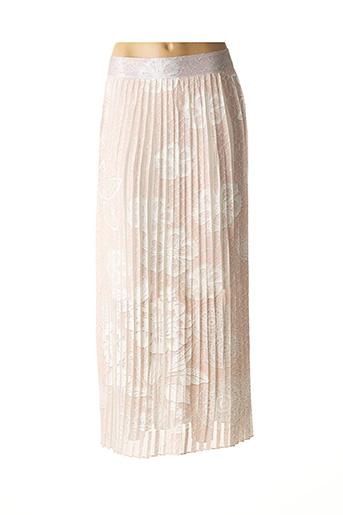 Jupe longue rose BISCOTE pour femme