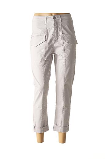 Pantalon casual gris BISCOTE pour femme