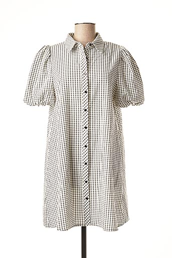 Robe courte blanc DAPHNEA pour femme