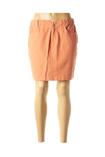 Jupe courte orange DAPHNEA pour femme