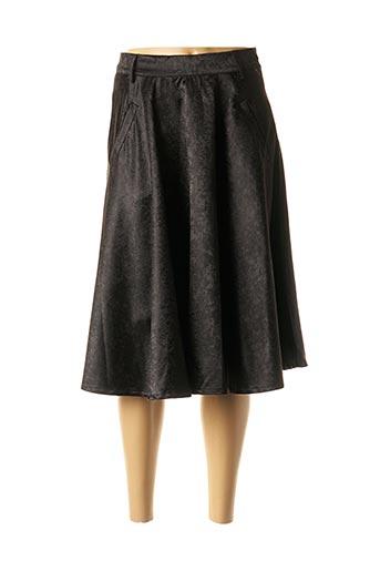 Jupe mi-longue noir ELLI WHITE pour femme
