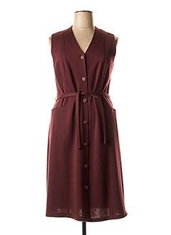 Robe mi-longue rouge GRIFFON pour femme