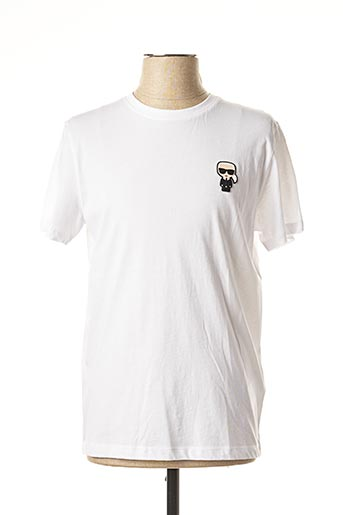 T-shirt manches courtes blanc KARL LAGERFELD pour homme