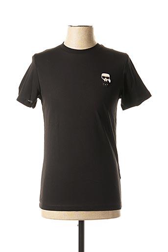 T-shirt manches courtes noir KARL LAGERFELD pour homme