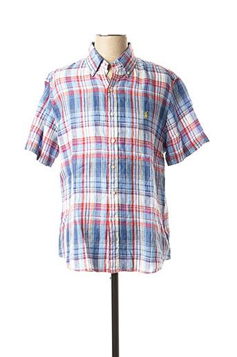 Chemise manches courtes bleu RALPH LAUREN pour homme