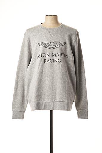 Sweat-shirt gris ASTON MARTIN pour homme