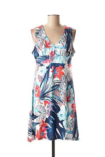 Robe mi-longue bleu ROSE POMME pour femme