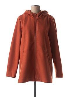 Manteau long orange ESCANDELLE pour femme