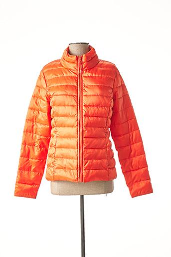 Doudoune orange ONLY pour femme