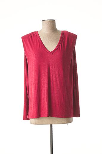 T-shirt manches longues rouge AN' GE pour femme