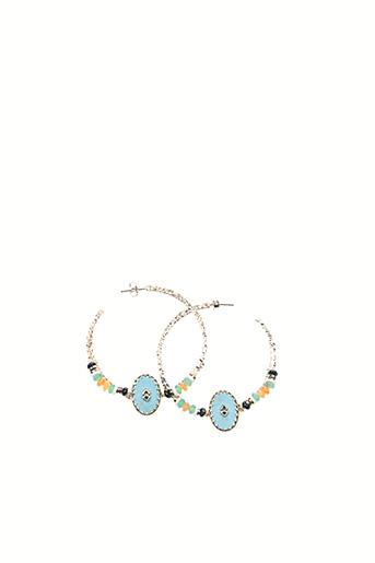 Boucles d'oreilles bleu HIPANEMA pour femme