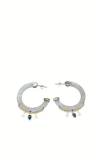Boucles d'oreilles gris HIPANEMA pour femme