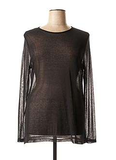 Pull col rond noir MALOKA pour femme