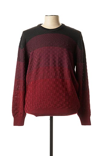 Pull col rond rouge GIORGIO BELLINI pour homme