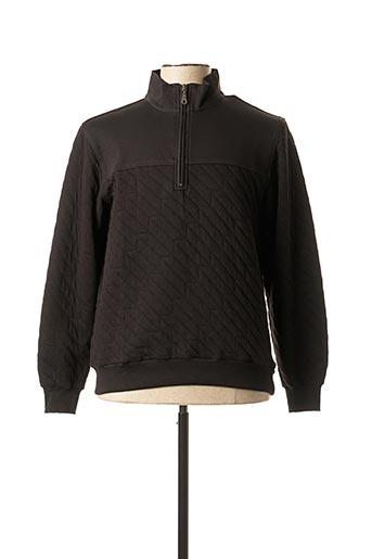 Sweat-shirt noir GIORGIO BELLINI pour homme