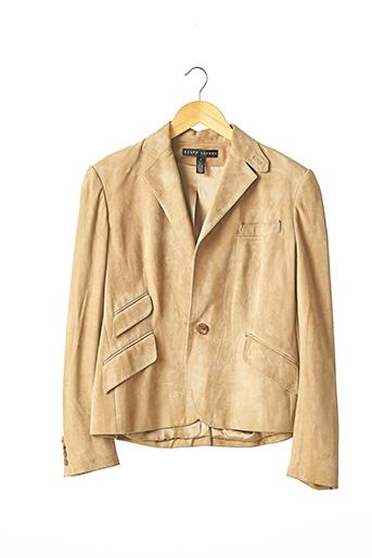 Veste en cuir beige RALPH LAUREN pour femme