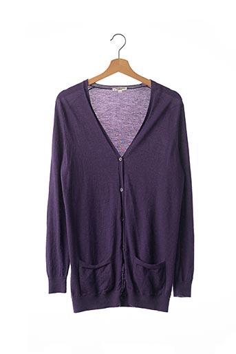 Gilet manches longues violet ERIC BOMPARD pour femme