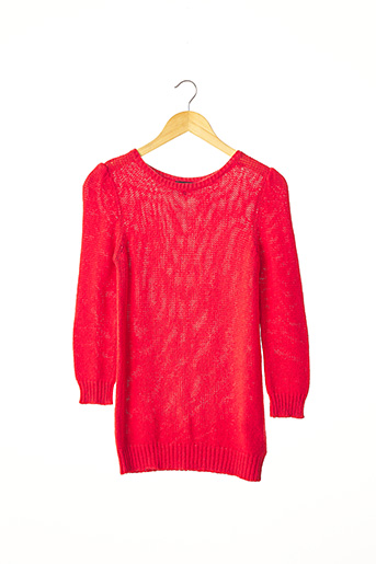 Pull col rond rouge A.P.C. pour femme