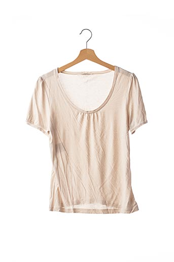 T-shirt manches courtes beige DEVERNOIS pour femme