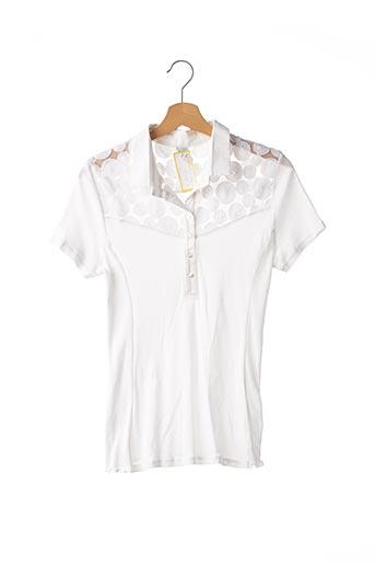 Polo manches courtes blanc OSCALITO pour femme