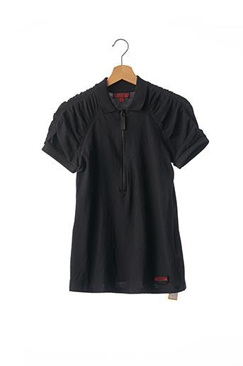 Polo manches courtes noir BURBERRY pour femme
