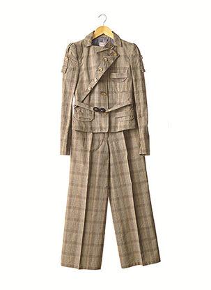 Veste/pantalon beige ANTONIO BERARDI pour femme