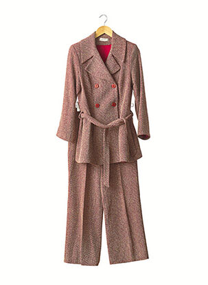 Veste/pantalon rouge EVA TRALALA pour femme