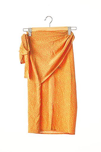 Jupe mi-longue orange ANGELO TARLAZZI pour femme