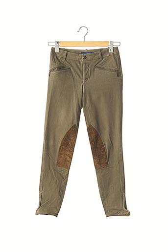 Pantalon 7/8 vert RALPH LAUREN pour femme