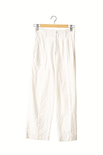Pantalon chic blanc ISSEY MIYAKE pour femme