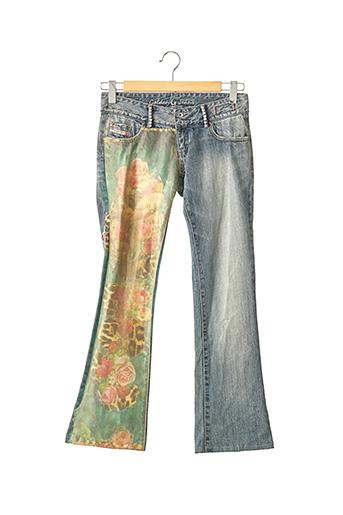 Jeans bootcut bleu COOLOVER pour femme