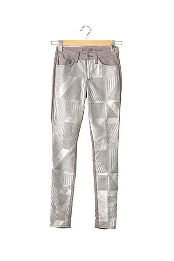Pantalon casual gris FOR ALL MANKIND pour femme