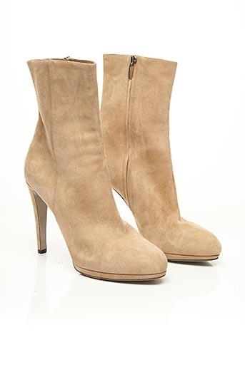 Bottines/Boots beige SERGIO ROSSI pour femme