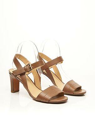 Sandales/Nu pieds marron ACCESSOIRE DIFFUSION pour femme
