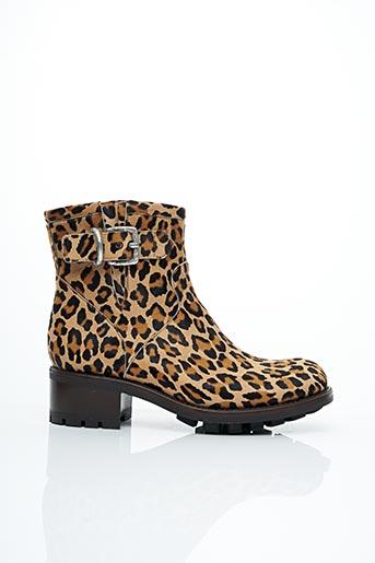 Bottines/Boots marron FREE LANCE pour femme