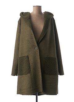 Manteau long vert PIMENT ROUGE pour femme