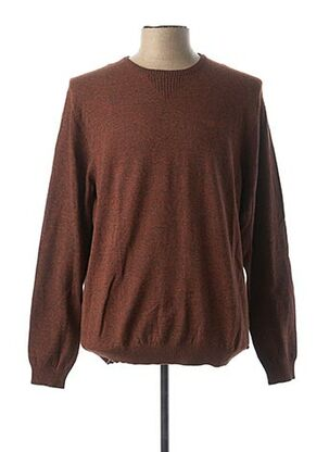 Pull col rond marron NO EXCESS pour homme