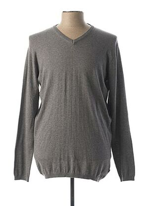 Pull col V gris TIFFOSI pour homme
