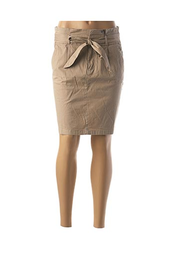 Jupe courte beige VERO MODA pour femme