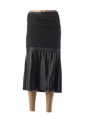 Jupe mi-longue noir HBT pour femme