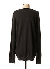 Pull col rond noir SELECTED pour homme seconde vue