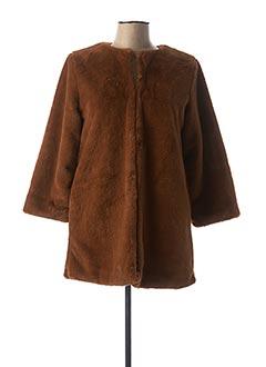 Manteau court marron B.YOUNG pour femme